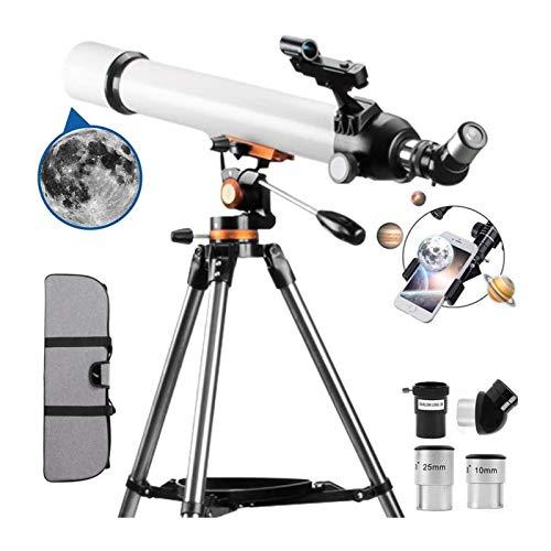 DZHTSWD-Teleskop for Kinder Anfänger, 70mm Aperture 300mm astronomisches Refraktor-Teleskop (28x-210x) mit einem roten DOT-Finder-Scope Perfect Telescope-Geschenk for Kinder