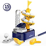 Eagle Stone Kids Golf Toys Set Outdoor Lawn Sport Toy with 15pcs Training Golf Balls & Clubs...