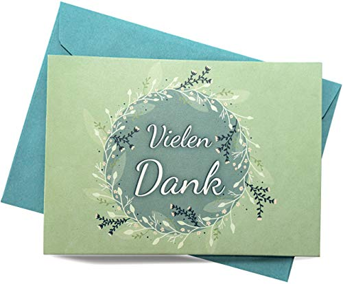 25 Dankeskarten & 25 Umschläge – Klappkarten SET, Hochzeit, Taufe, Konfirmation, Kommunion, Ruhestand, Geburt, Geburtstag, Mitarbeiter Danke