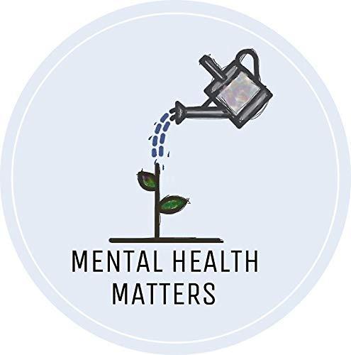 "Mental Health Matters Sticker Decal Window Bumper Sticker Vinyl 5"""