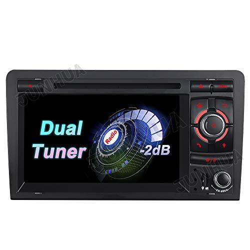 Junhua 2+32G Dual Radio Tuner FM Eingebautes Carplay+Android Auto ROHM DSP Autoradio DVD GPS Navigation Navi Radio Bluetooth DAB+ WiFi OBD 4G LTE TPMS Lenkrad IPS für Audi A3 S3 RS3 8P 8V 8PA
