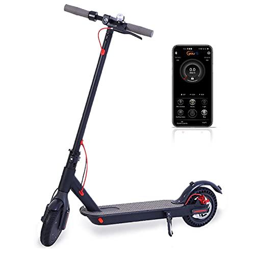 GAOword Elektroroller 30 KM/h Maximale Geschwindigkeit,Belastung 120 kg, mit Doppelbremssystem Tragbarer Faltbarer Pendler Scooter Wasserdicht E-Scooter für Erwachsene und Jugendliche