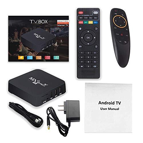 [Mise À Jour 2021] MXQ Pro 4K 5G Android 10.0 TV Box 2 Go + 16 Go Quad Core Home Media Player Dual Band 2.4G / 5.8G WiFi (avec Télécommande Et Gyroscope À Souris)