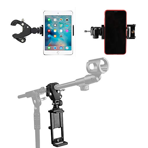 Mr.Power Adjustable Microphone Mic Stand Mount Phone Holder Clip for Tablet PC Ipad iPhone Samsung Look The Musical Sheet (Tablet Holder)