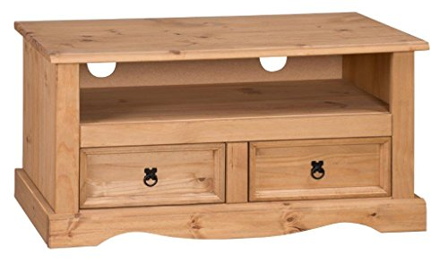 Corona 2-Drawer Flat Screen TV Unit - Pine