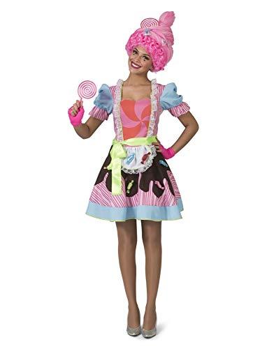Bonbonkostüm Damenkostüm Candy Queen Bunt Fasching Karneval Kostüm Damen