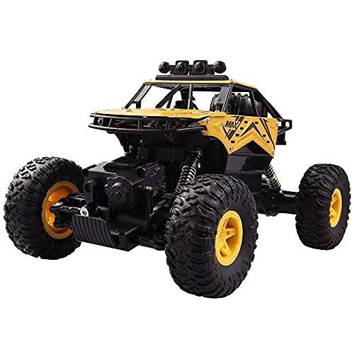 BPDD 1:14 Coche de Escalada de aleación de 2,4 GHz Grande 4WD Coche de Control Remoto Coche de luz pulverizadora vehículo Todoterreno Juguetes para niños Regalos para niños