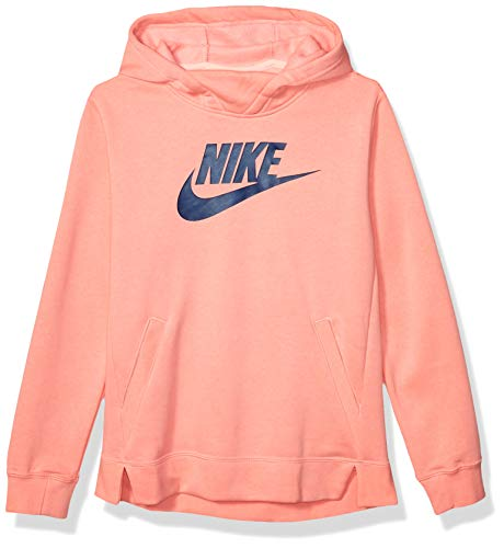 Nike Girl's NSW Pullover Hoodie, Pi…