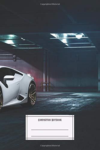 Composition Notebook: Cars Lamborghini Huracan Vehicle Composition Notebobok Over 50 Sheets