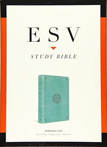 ESV Study Bible, Personal Size (TruTone, Turquoise, Emblem Design)