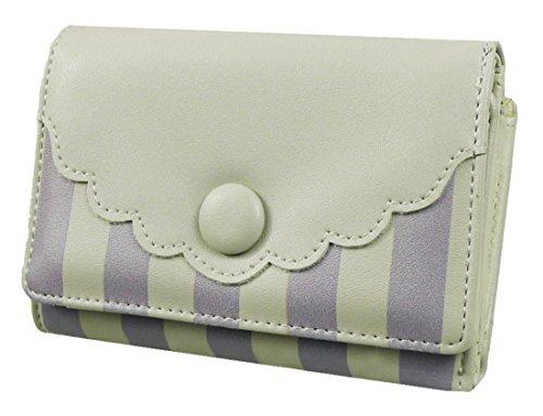 kukubird Striped Scallop Purse Prom Party Clutch Bag Wallet - Light Grey