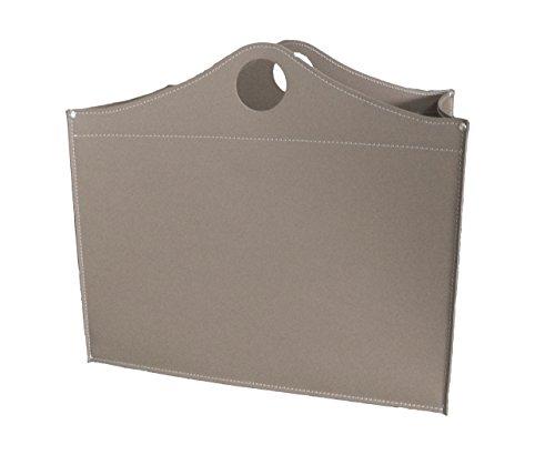 WOODBAG Limited Edition: Porte bûches en cuir de couleur Gris tourterelle, Panier sac à bûches, Chariot à bois, Panier à granulés.
