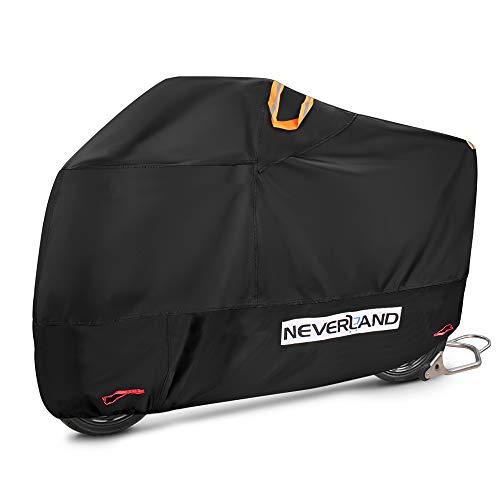NEVERLAND Housse de Protection pour Moto Bâche Scooter Taille L en Tissu 210D Oxfords Etanche Durable