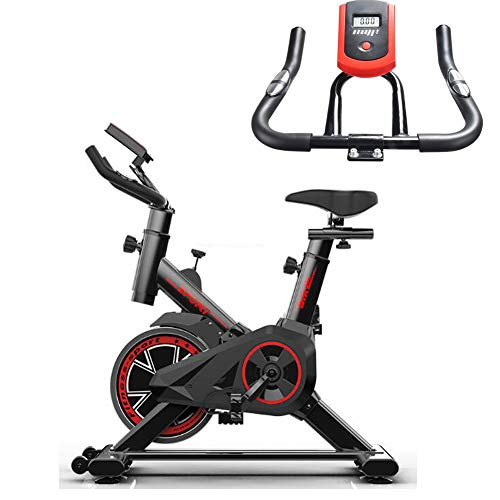 QAZWSX Indoor Exercise Bike, Cycle Bike Exercise Machine with Sensor, LED Display for Home Gym, Best Choice Weight Lose, Foldable