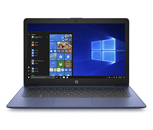 "HP 14-ds0015nl Stream Notebook, AMD Dual-Core A4-9120e, RAM 4 GB DDR4, eMMC 64 GB, Windows 10 Home S, Schermo 14"" HD SVA Antiriflesso, Office 365 Incluso 1 Anno, USB, HDMI, RJ45, Webcam, Blu"