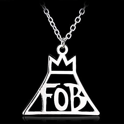 Collana fashion Lettera Fob Collana con ciondolo Gioielli Rock Band Fall Out Boy Rock Music Logo Collana girocollo