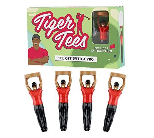 Gift Republic Tiger - Confezione da 4 Tee da Golf, Unisex, Taglia Unica