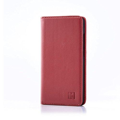 32nd Klassische Series - Lederhülle Hülle Cover für ZTE Blade L3, Echtleder Hülle Entwurf gemacht Mit Kartensteckplatz, Magnetisch & Standfuß - Rosa Pink