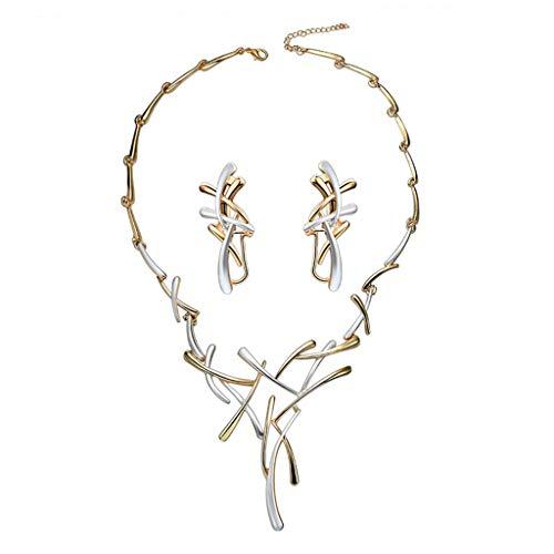 PTMD Juego de pendientes de cadena para mujer, de lujo, para bodas, novias, niñas, pendientes de cadena
