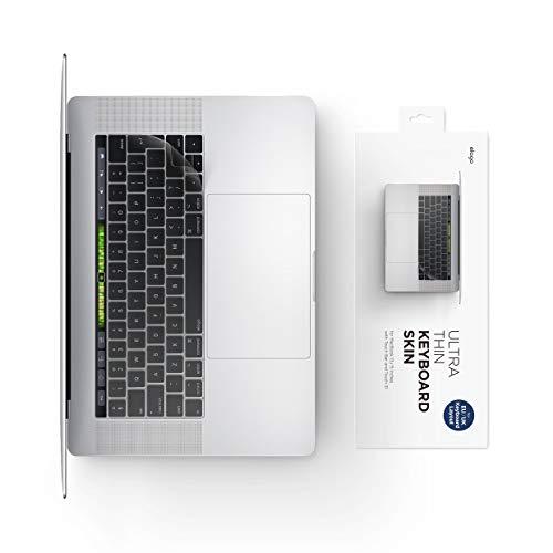 elago Pellicola Protettiva per Tastiera Copri Tastiera Apple MacBook Pro 13' e 15' Cover Tastiera Ultra Sottile con Touch Bar e Touch ID - UK/EU Layout [Trasparente]