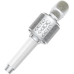 top rated Wireless Karaoke Microphone, Bluetooth 5.0 Karaoke Reverb Portable Microphone Speaker 3000mAh… 2021