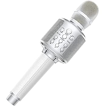 Karaoke Microphone GOODaaa Wireless Bluetooth Karaoke Microphone 4-in-1 Portable Handheld Karaoke Mics Speaker Machine with Dual Sing for Kids and Adults Home Party Birthday