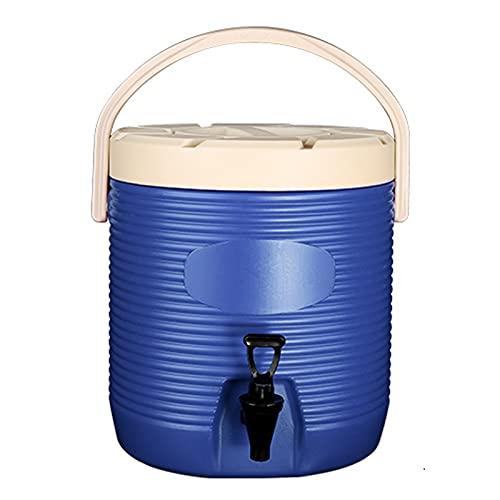 Cubo De Aislamiento De Gran Capacidad: Plástico Frío Y Bebida Caliente Cubo De Té De Hierbas, Cubo De Jugo Con Dispensador De Agua Del Grifo, Cubo Exterior, Conservación Del Cal(Size:13L,Color:azul)