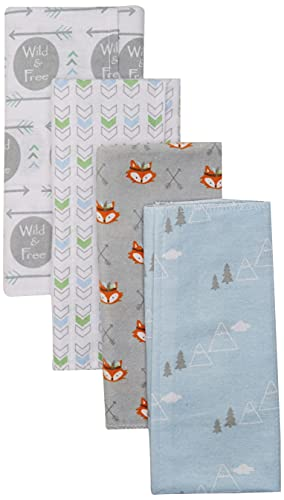 Product Image of the Luvable Friends Unisex Baby Cotton Flannel Burp Cloths, Wild Free, One Size