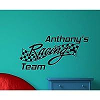 Ronronner 壁デカールキッズルームステッカーレーシングチーム10代の寝室リビングルームの装飾壁紙リムーバブルホームアクセサリー84X42Cm