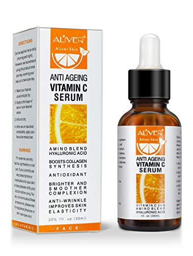 Premium Vitamin C Serum For Face with Hyaluronic Acid, Retinol & Amino Acids- Organic Skin Care for Acne, Anti Wrinkle, Anti Aging, Fades Age Spots and Sun Damage Face Serum