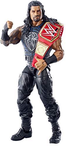 WWE Elite - Figura de acción luchador Roman Reigns con accesorios de lucha, juguetes...