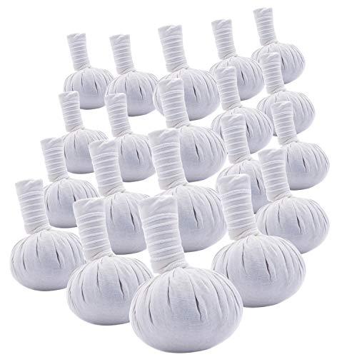 Pack of 20 Large Thai Spa Herbal Massage Compress Ball Warm Hot Therapy LUK Pra KOB 200 g.