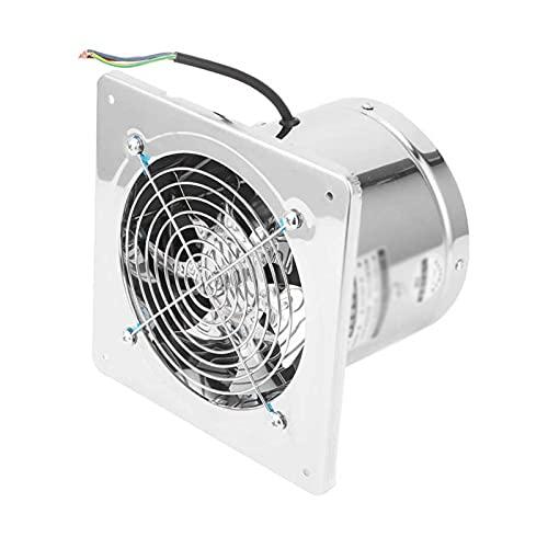 Ventiladores Ventilador de escape de 7,5 pulgadas 7 cuchillas Ventilación de bajo ruido para baño Ventilador de acero inoxidable con cubierta de red protectora y válvula de retención, 2800R / min, 40W