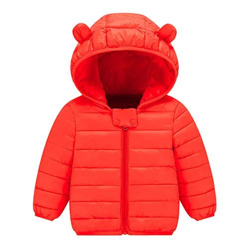 Manadlian Manteau Bébé Fille Garçon Hiver Doudoune à Capuchon Veste à Manches Longues Sport bébé Ski Vêtement Chaud Blouson Enfant Jacket 0-8 Ans