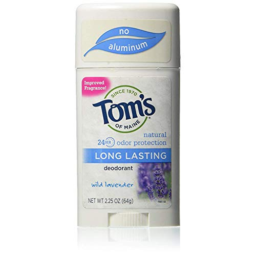 Tom's of Maine Natural Long-Lasting Deodorant Stick Lavender 2.25 oz (Pack of 4)