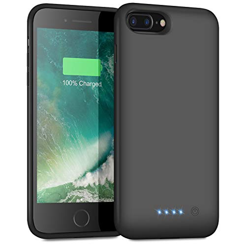 Battery Case for iPhone 8plus/7plus/6 Plus/6s Plus, 8500mAh Protective Portable Charging Case Rechargeable Extended Battery Pack for Apple iPhone 8plus/7plus/6 Plus/6s Plus(5.5')