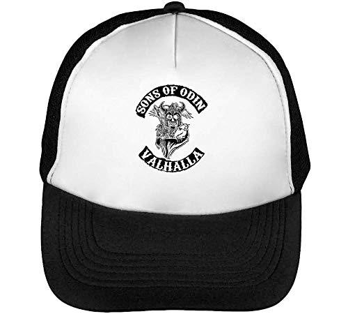 Sons of Odin Valhalla Chapter Gorras Hombre Snapback Beisbol Negro Blanco