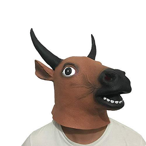 Látex Máscara de Vaca Cabeza de Animal Sombrero, de los ni