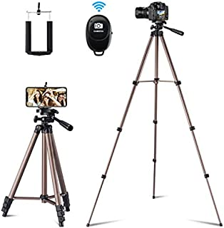 Flexible Tripod,127 cm Extendable Lightweight Tripod Stand with Carrying Bag,Universal Tripod for Cell phone Camera and Go...