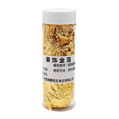 Yintiod 4 g/Jar goudfolie papier, veilige decoratie voor taarten, ijs, dranken, levensmiddelen, dessert thuis, bar, restaurant