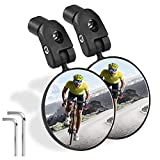 Sanctus Bike Mirror, 2pcs Bicycle Rear View Mirror,HD Safe Convex Lens,Adjustable 360˚Rotatable Handlebar Rearview Mirrors for Mountain Road Cycling Bike