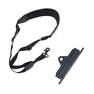 Rantow 2 in 1 Adjustable Neck Lanyard + Neck Belt Sling Bracket Hook Hanger for DJI Mavic Pro, Comfort Wide Neck Strap(Black)