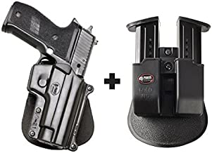 Fobus SG-21 Paddle Right Handed Concealed Carry Holster Smith & Wesson 3913, 3914, 3919 (Ladysmith), 4013, 5904, 5906, 6906, 6946, CS9, CS45, 908V, 910, 915 + 6909 ND Double Magazine Pouch