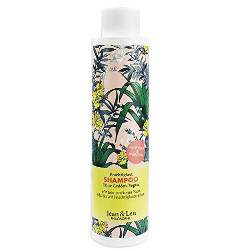 Jean & Len Shampoo Feuchtigkeit - Aloe Vera & Basilikum, für sehr trockenes Haar, schützt vor Feuchtigkeitsverlust, 300 ml, 1 Stück