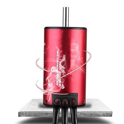 Dilwe RC Car Motor, wasserdichter RC Car Car Brushless Motor Upgrade Ersatzzubehör für 1/8 1/10 RC Car(3500 kV)