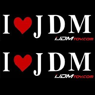 iJDMTOY (2) I Love JDM Car Vinyl Decal Sticker Featuring LED Light Super Store