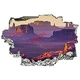 Pegatinas de pared 3D Break Through de Grand Canyon Rock Landscepe, murales de pared para decoración de salón, hogar, dormitorio de niños, guardería (61 cm de ancho x 91 cm de alto)