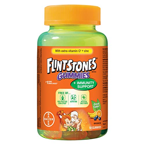 Flintstones Plus Immunity Support Multivitamin, 50 Gummies