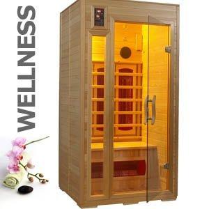 12656 hochwertige 1-2 Personen Infrarot Wärmekabine Sauna ca. 96x87x186 cm + MP3-Player Anschluß mit eingebauten Stereo Lautsprechern