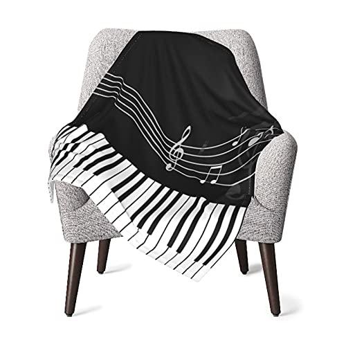 Manta de bebé con teclas de piano súper suaves para recibir mantas unisex de felpa, manta transpirable para recién nacidos y niños de Halloween